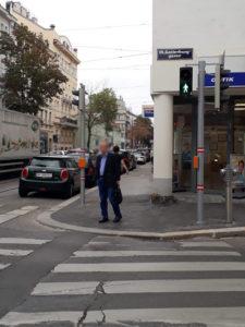 Bereits umgesetzt: Fußgängerampel Döblinger Hauptstraße/Gatterburggasse